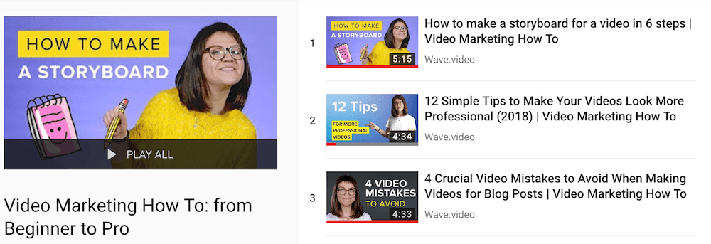 How to make a video: YouTube list