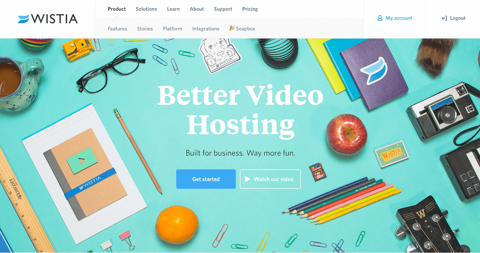 Wistia video marketing platform