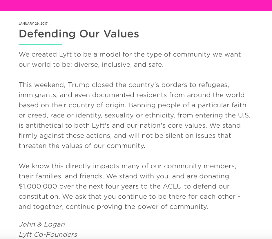 Defending our values