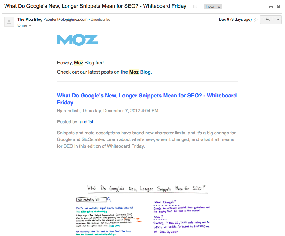 Moz email