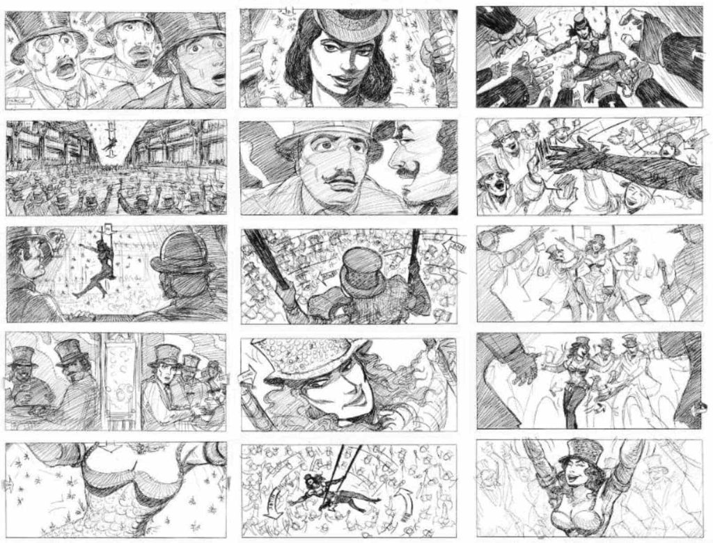 Thumbnail Storyboard Example for Moulin Rouge