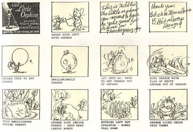 Traditional Storyboard Example for Tom and Jerry
