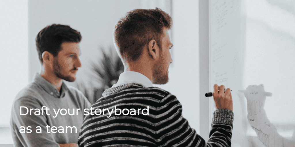 Draft your storyboard as a team