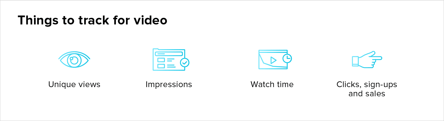 Things to track for video