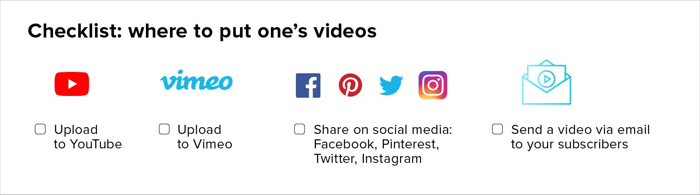 Video Marketing Strategy: Checklist