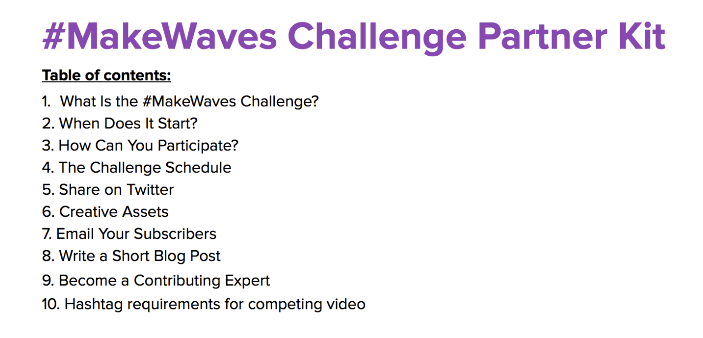 #makewaves influencer kit