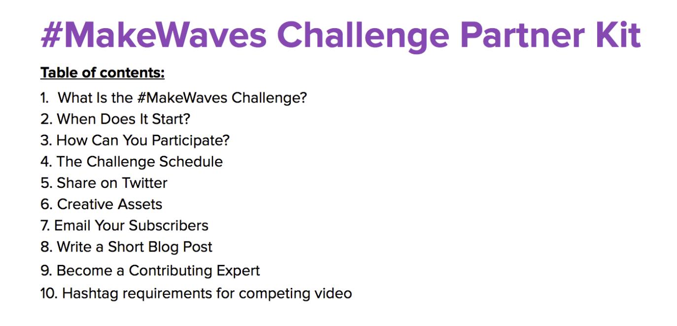 #makewaves influencer kit