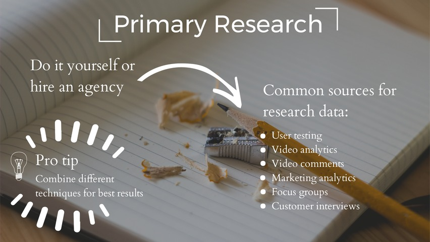 Primary research for creating effective videos