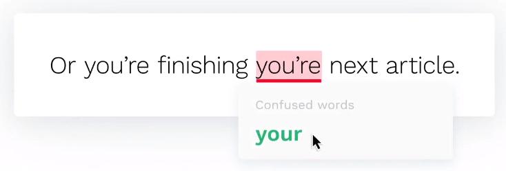 Grammarly correction