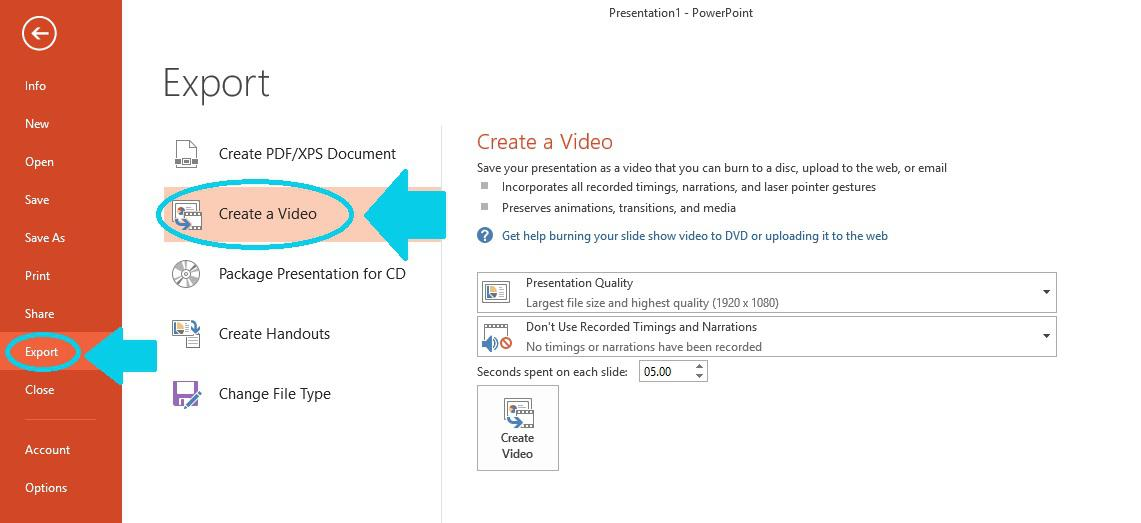 Create a video for blog in PowerPoint