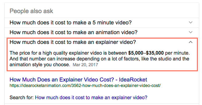 How much does it cost to make a video
