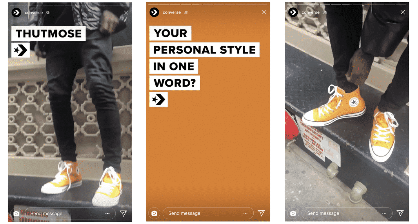 Instagram Stories video converse