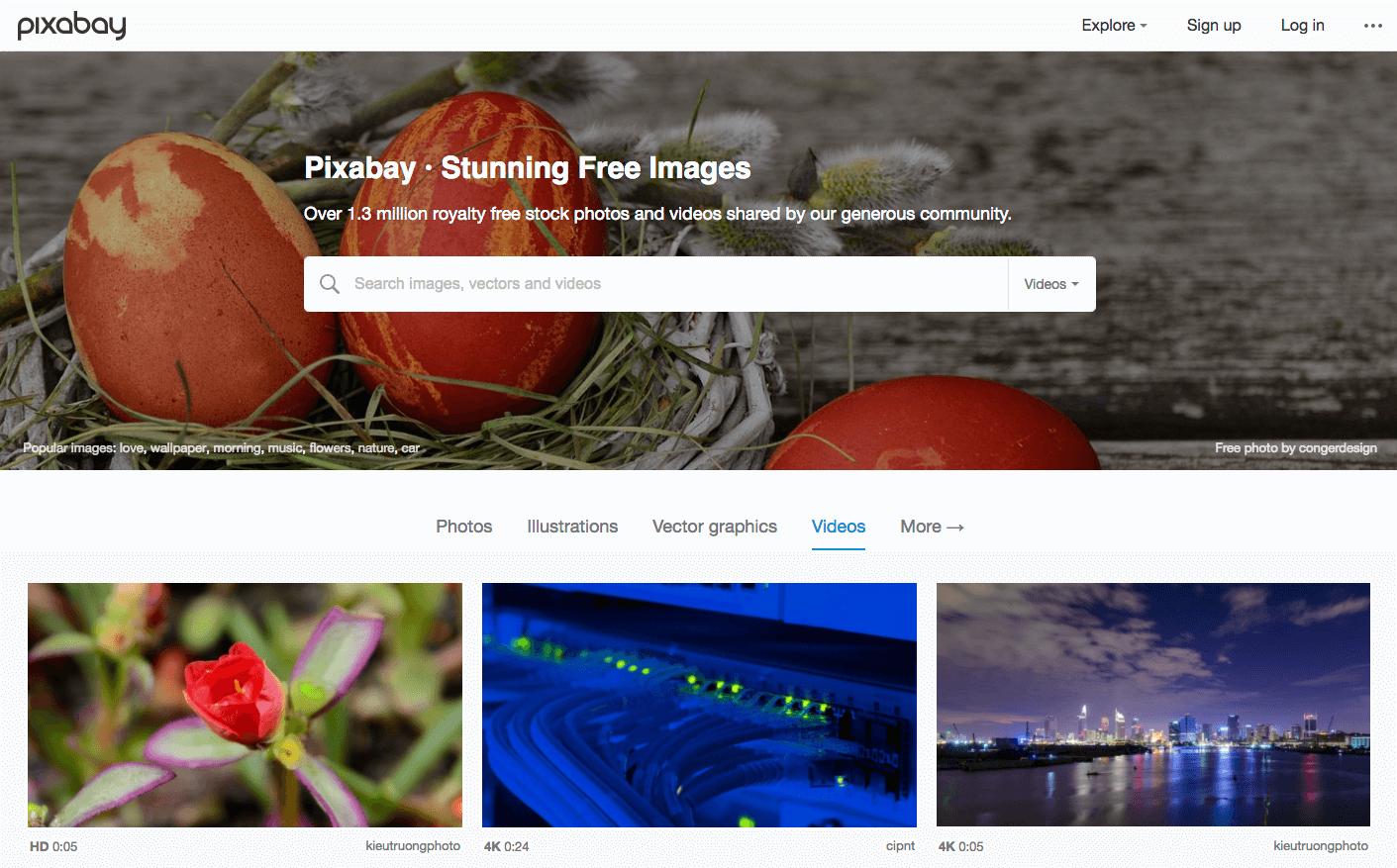 Free stock footage: Pixabay