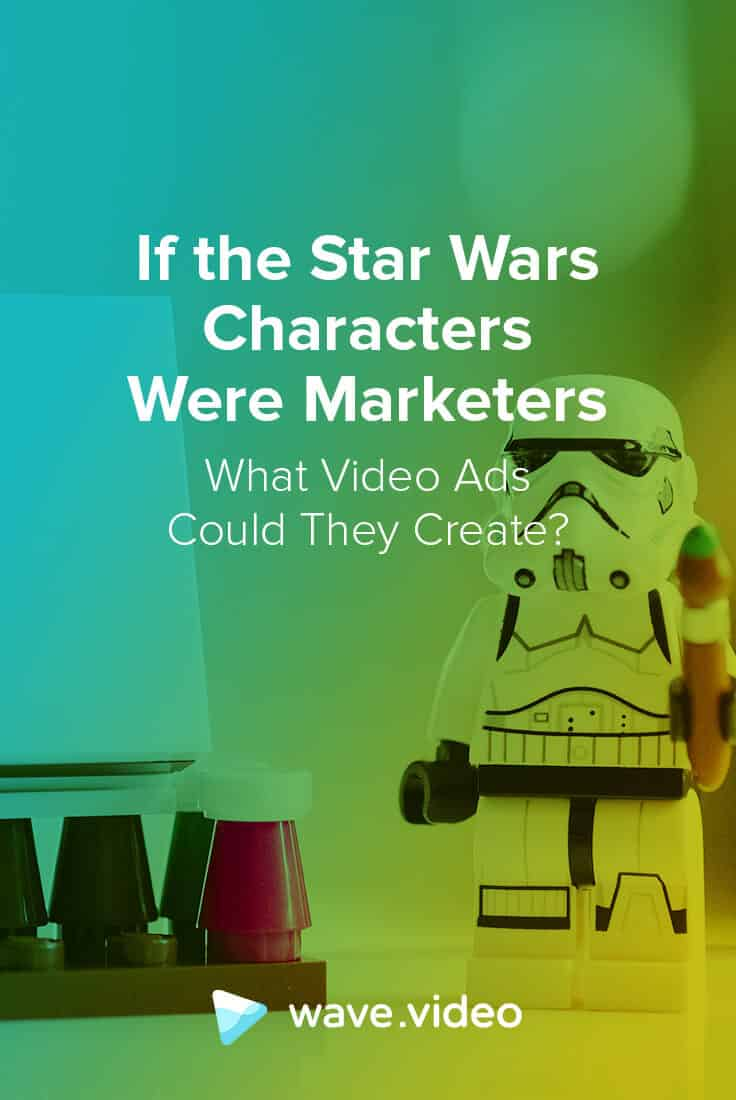 Star wars characters video ads