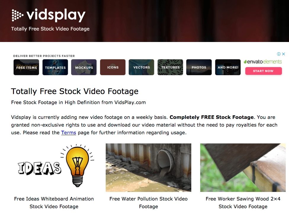 Free stock footage: Vidsplay