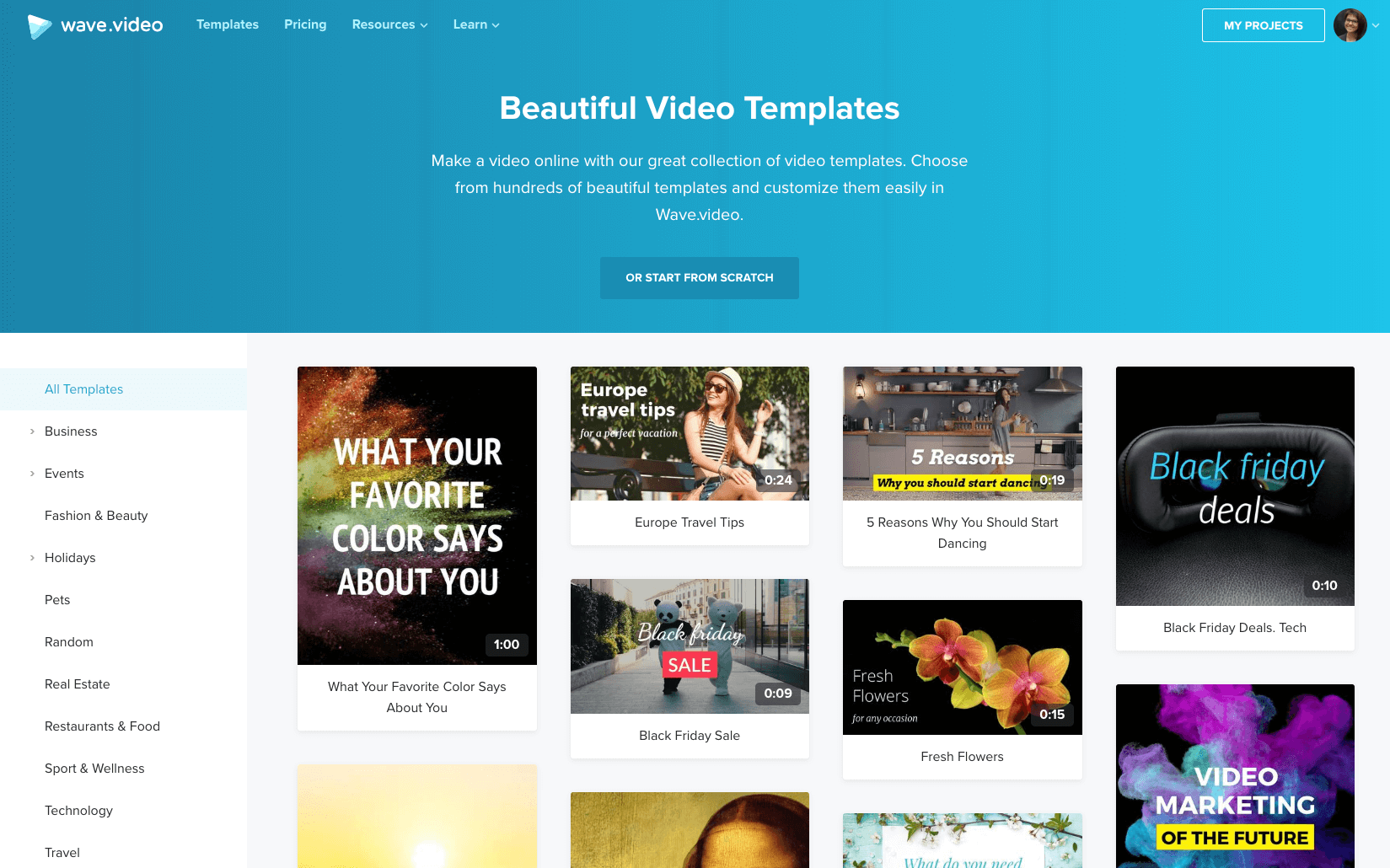 New templates in Wave.video