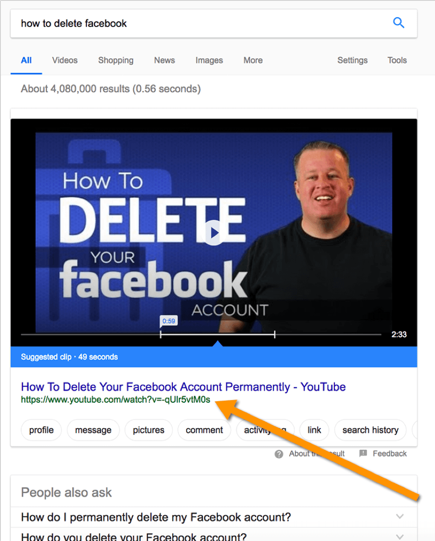 video featured snippets google