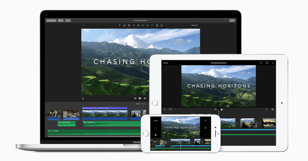 Add text to video with iMovie
