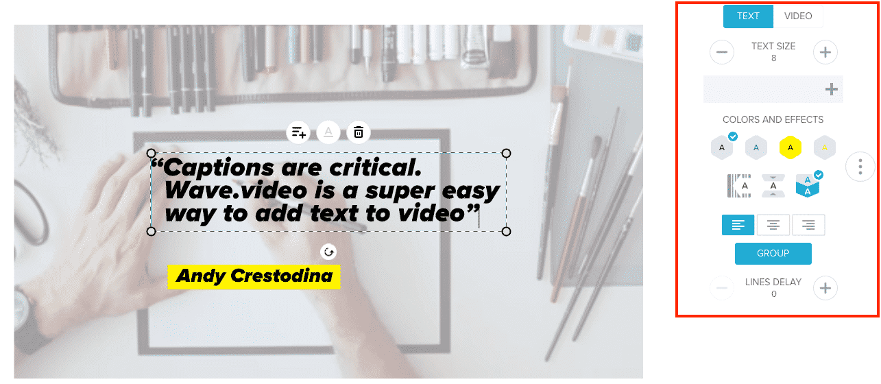 Book trailers: add captions
