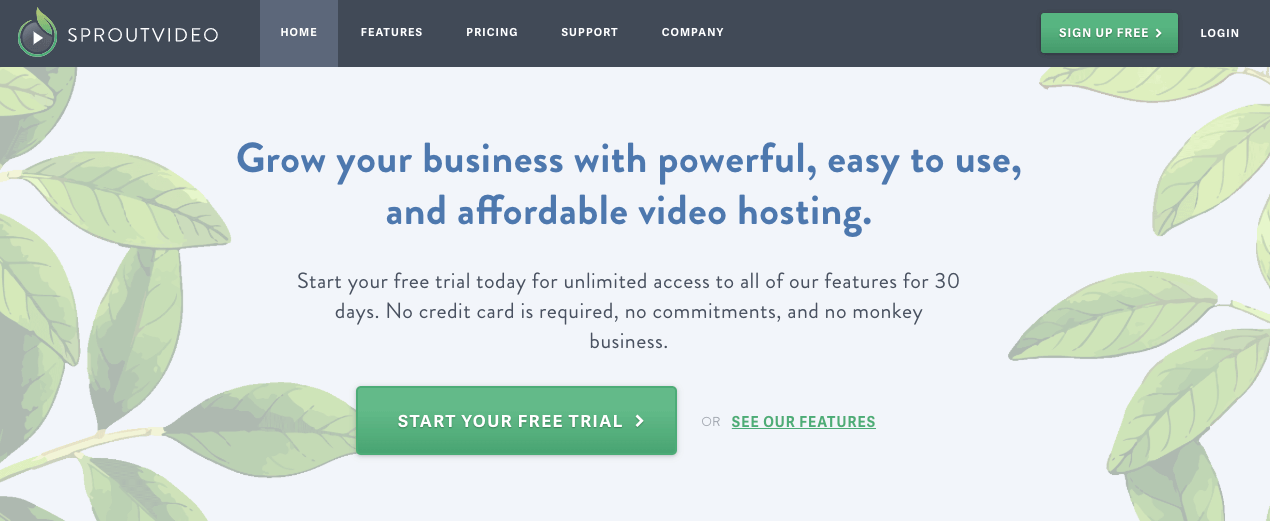 SproutVideo Video Hosting Site