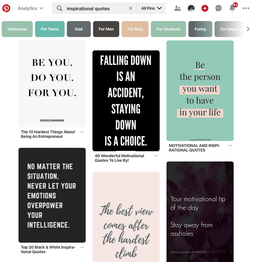 Pinterest marketing quotes