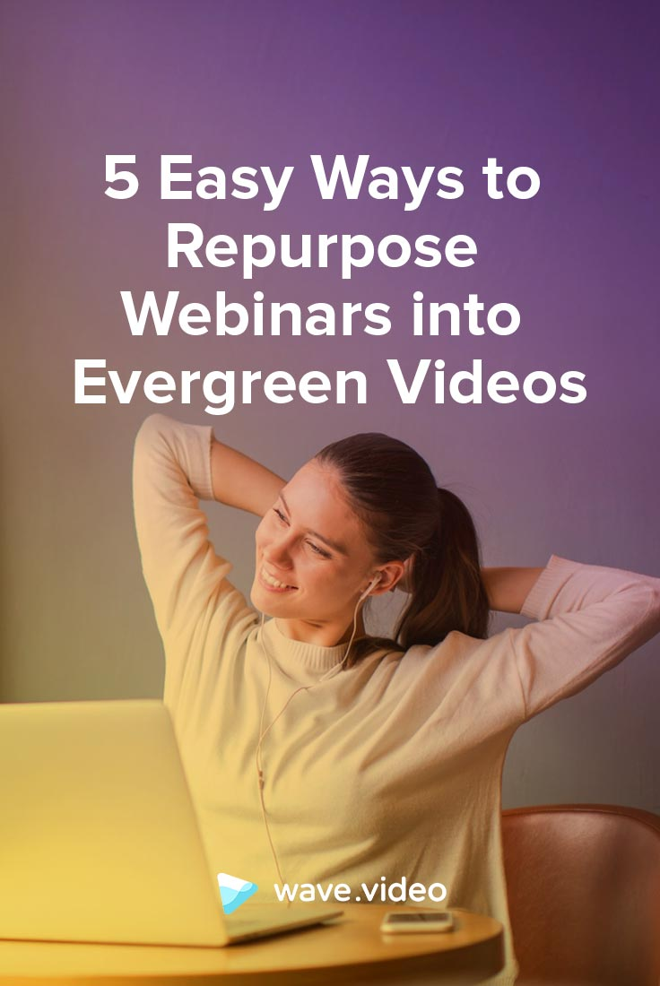 5 Easy Ways to Repurpose Webinars into Evergreen Videos