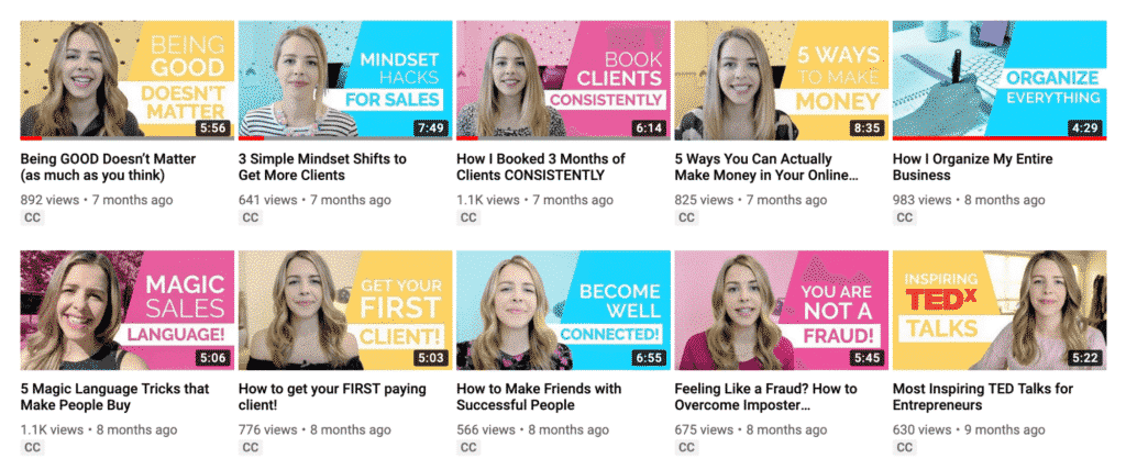 Branded video thumbnails