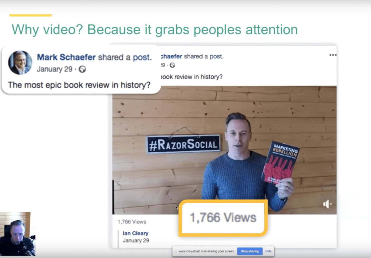 Video grabs people's attention