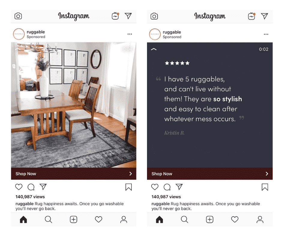 Instagram video format - ads