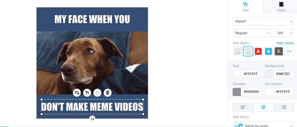How to make a meme video - adding text