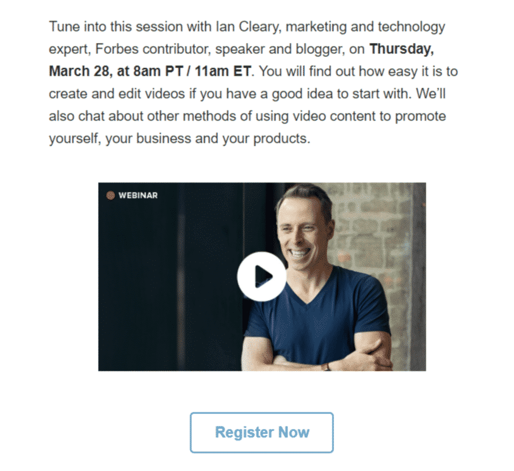 Ian Cleary - Webinar Invitation - Static image plus play button