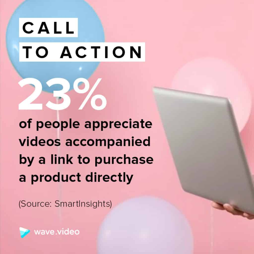 Video marketing statistics: 23% of people appreciate CTA in videos