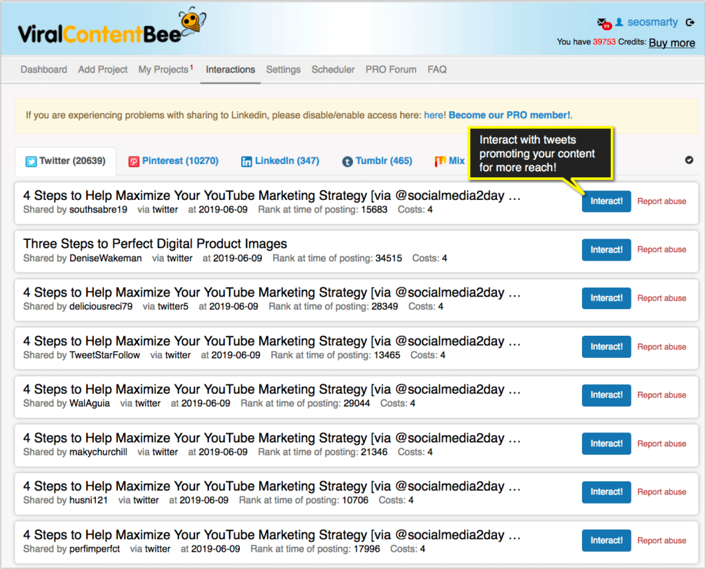 Promote video on twitter - viral content bee-interactions