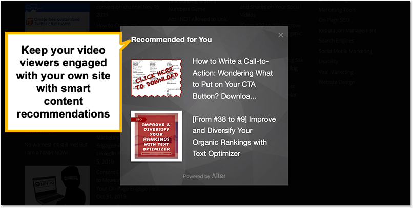 How (and Why) to Promote Your YouTube Content on Your Own Site - content recommendations