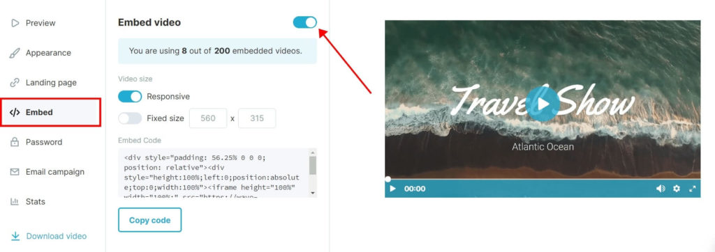 Embed Video from Wave.video