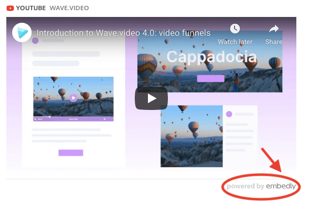 Embed video on website via embed code generator