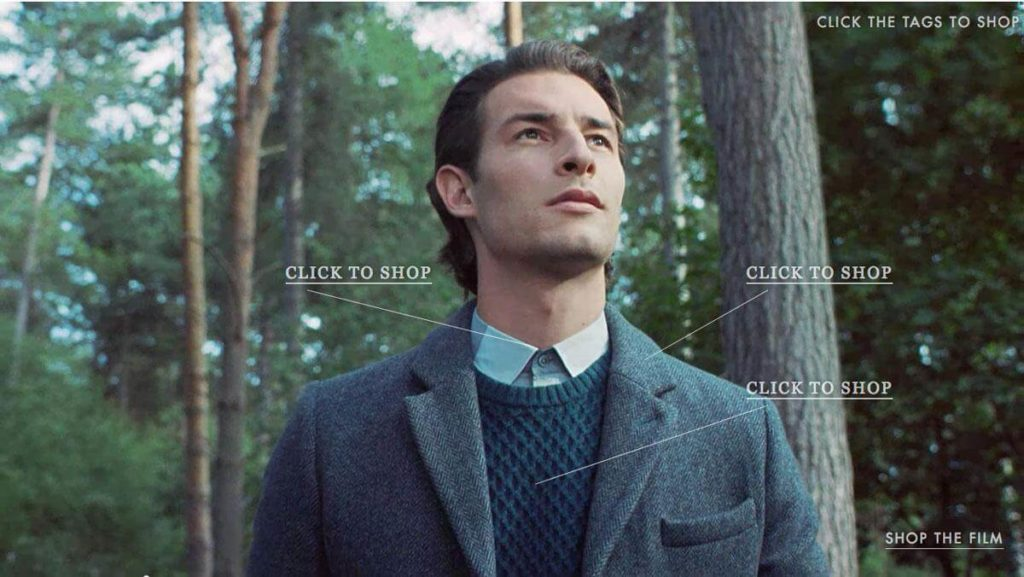 Ted Baker interactive video shopping campaign