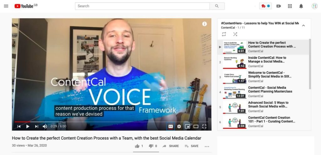 Video-Centric Content Marketing Plan - upload to YouTube