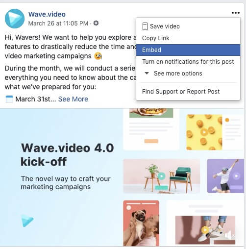 embedding video from facebook