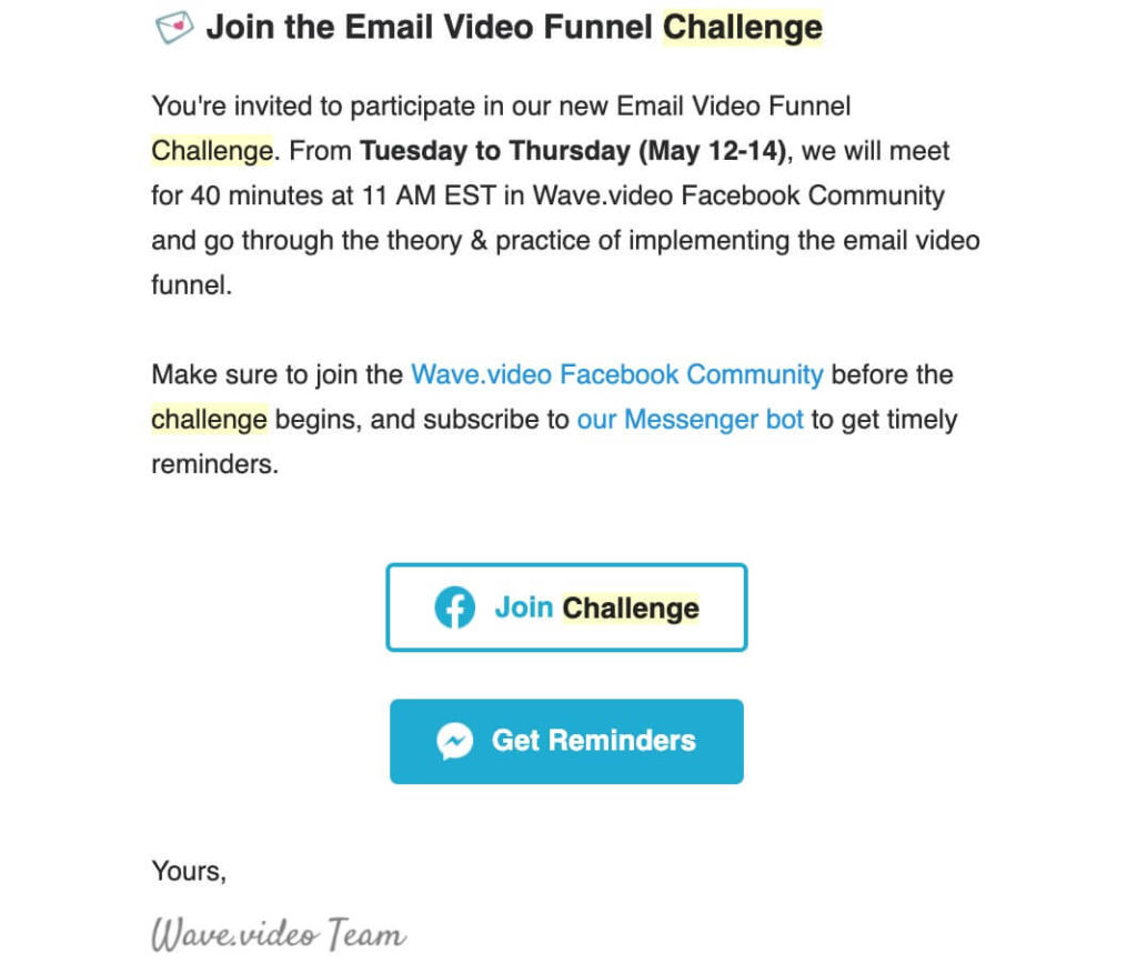 Why and How to Launch a Facebook Challenge Step-by-Step Guide email newsletter