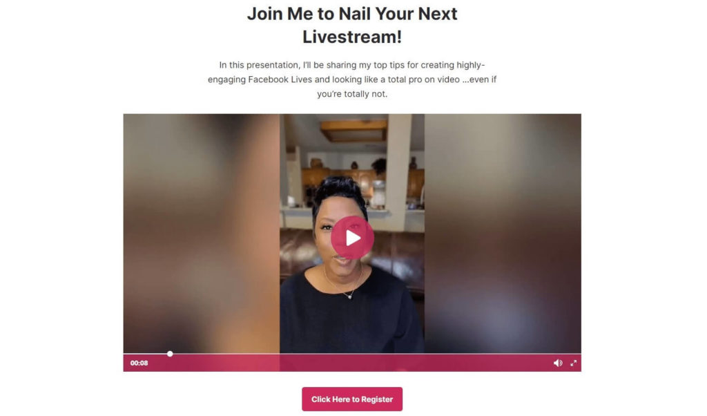 Video Landing Page by Tanya Smith