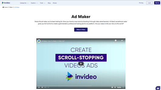 Best Video Ad Makers - InVideo
