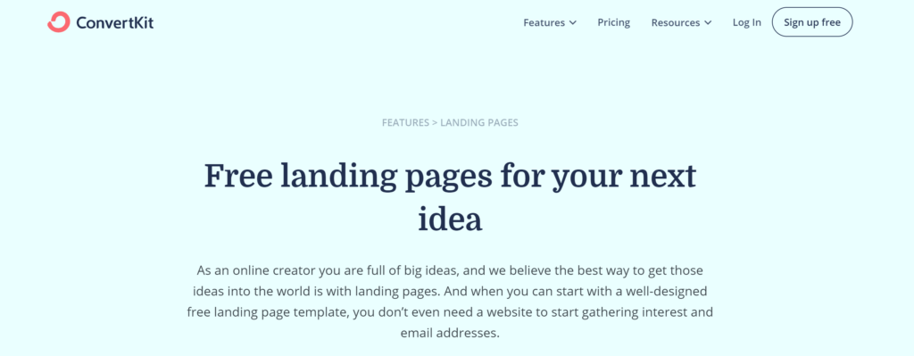 convertkit-video-landing-page-maker