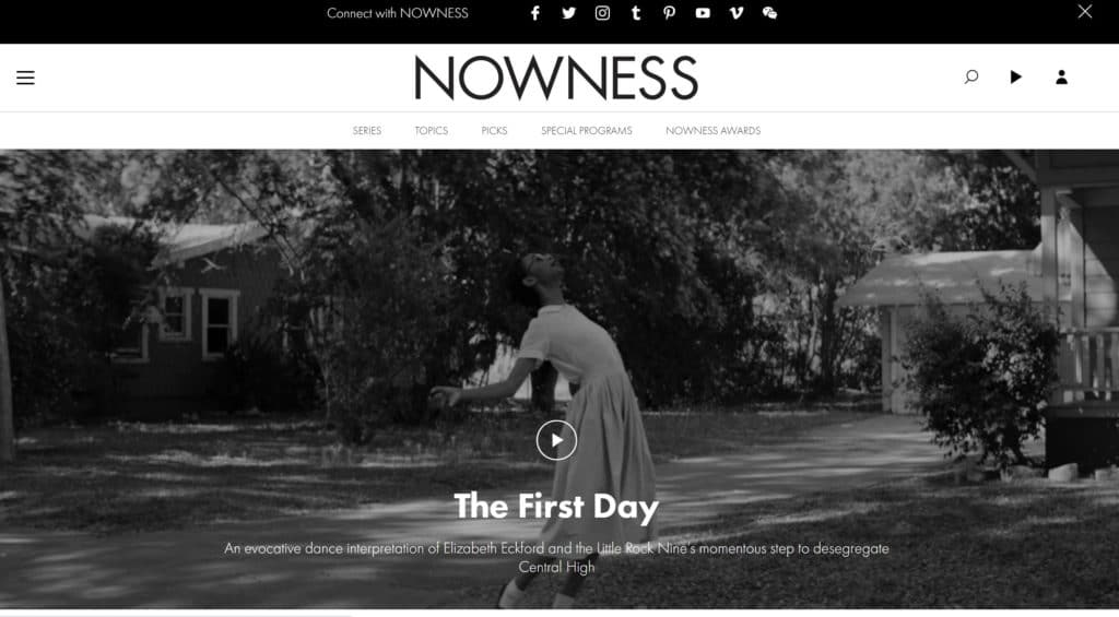 nowness-video-landing-page-example