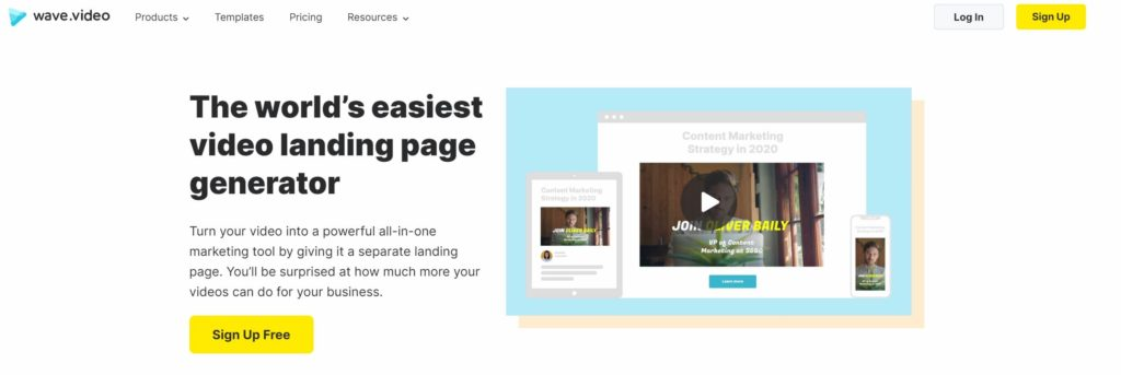 wave-video-landing-page-maker