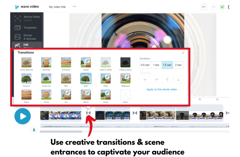 Pinterest video transitions