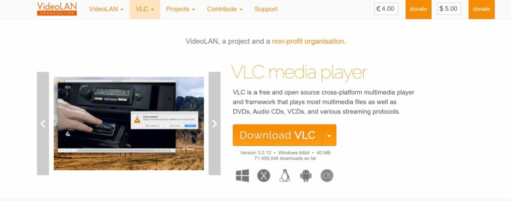 VLC Media Player - Video to audio converter