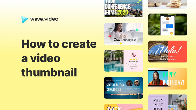 How to create a video thumbnail