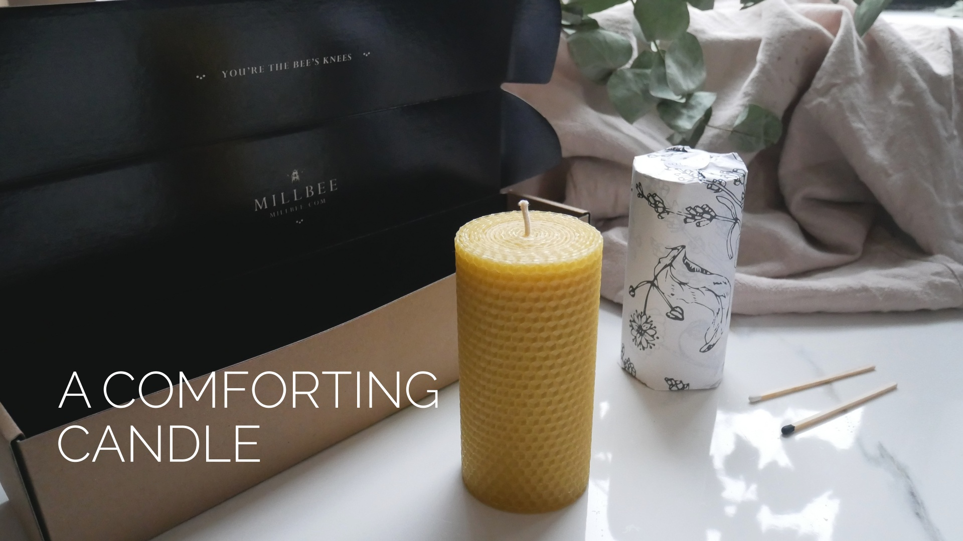 Mindful candle product page