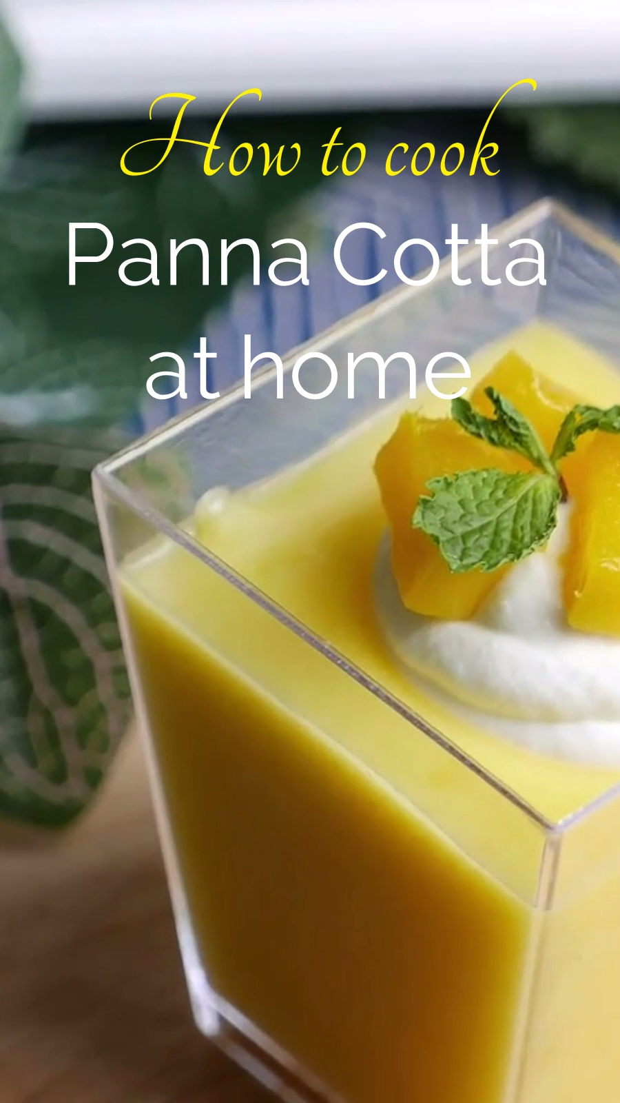 Panna Cotta Recipe Instagram Video Template
